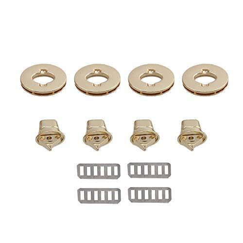 Gold Design Oval (RDEXP 1.18x0.71x0.51inch Light Gold Oval Twist Turn Lock DIY Purse Suitcase Handbag Clasps Fastener Set of 4)
