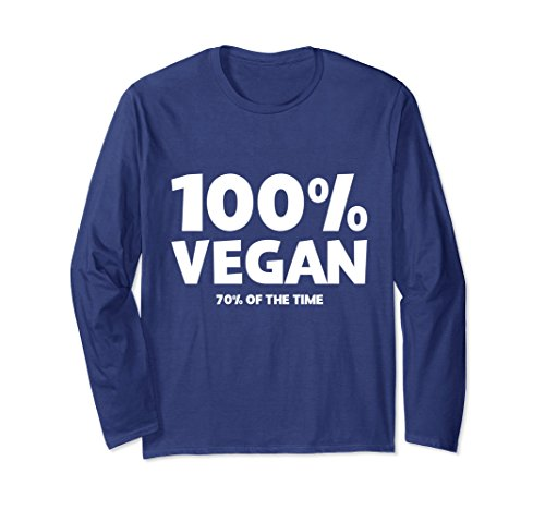% Of The Time Long Sleeve T-Shirt Small Navy (70's Tee)
