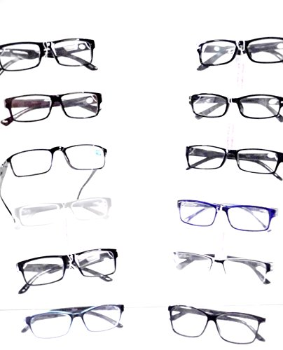EYEGLASSES Men's Styles Wholesale Lot 9 Optical READING GLASSES Fashionable Plastic +2.25 ()