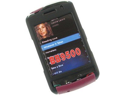 Snap On Rubberized Plastic Phone Protector Black and Purple Case For BlackBerry Storm 9530 9500 -