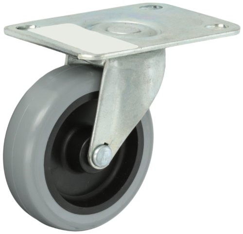 Shepherd-Regent-Series-3-Diameter-Polyurethane-Wheel-Swivel-Caster-3-34-Length-x-2-58-Width-Plate-120-lbs-Capacity-Zinc-Finish