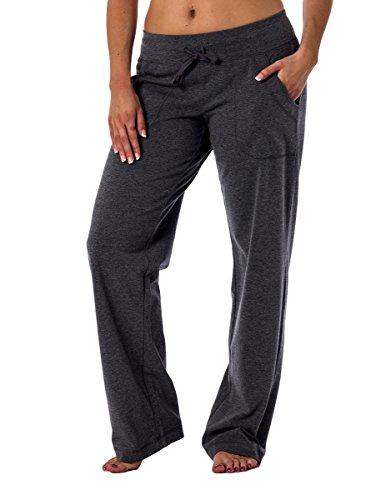 Danskin Now Women's Knit Lounge Pant Charcoal 2XL Petite
