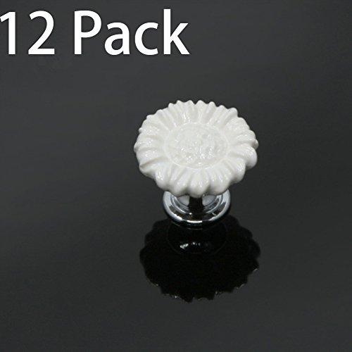Flower Ceramic Drawer Pull - 2