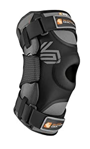 Shock Doctor Ultra Knee Supporter with Bilateral Hinges (Black, Large)- Single