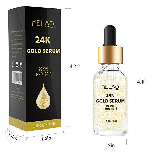 418dQ2DAtvL - 24k Pure Gold Foil Essence Serum Anti-Wrinkle Anti-Aging Serums For Reducing Fine Lines Brightening Skin Tone Anti-Oxidant Nourishing Whitening Firming