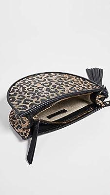 Poolside Bags Women's Leopard Print Raffia Clutch