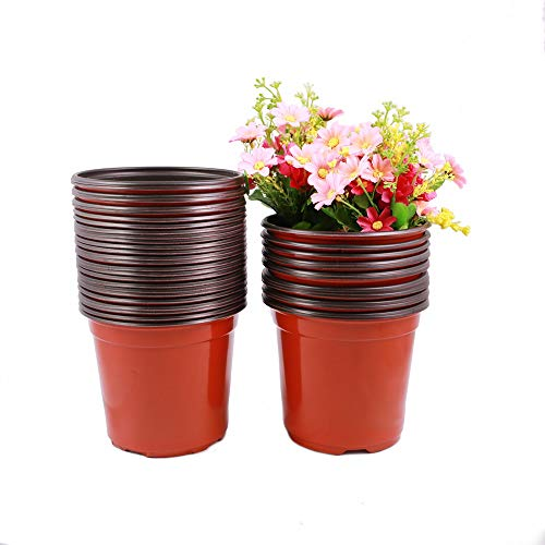 - TRUEDAYS 6 Inch Plastic Flower Seedlings Nursery Supplies Planter Pot/pots Containers,40 Pack