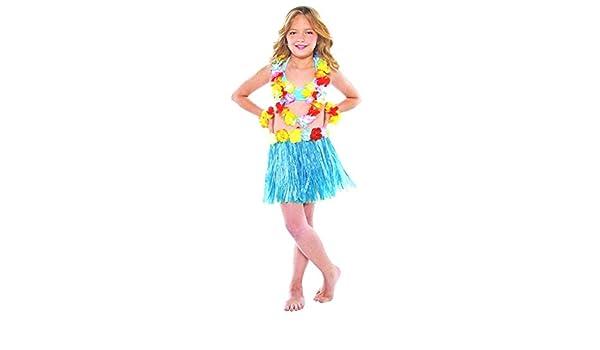 Falda de carnaval de niña hawaiana falda hawaiana flores ...