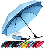 Repel Windproof Travel Umbrella with Teflon Coating (Slate Blue)