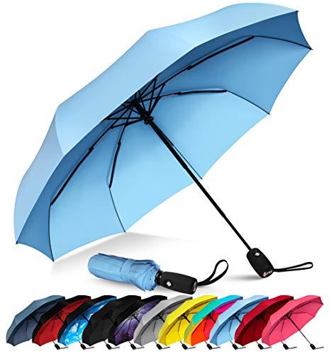 (Repel Windproof Travel Umbrella with Teflon Coating (Slate)