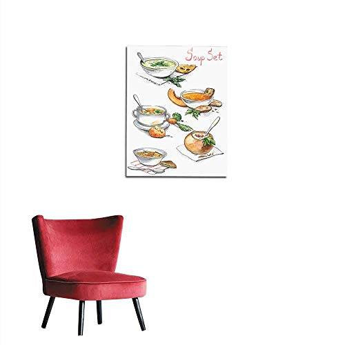longbuyer Wall Sticker Decals Collection of Different soups Mural 16