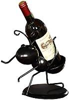 Aiglen Estatuilla de Hormiga de Trabajador de Metal Divertido Soporte de Botella de Vino Arte de Hierro Ornamental Estante de Vino de Insectos artesanías decoración del hogar Accesorios de Bar
