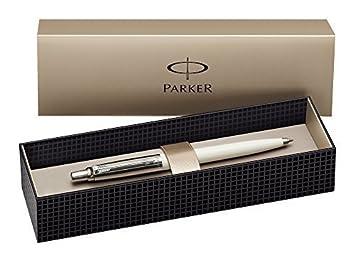 Parker Jotter - - blancura edición especial 60th aniversario tomografía bolígrafo - embellecedores cromados - mecanismo de empuje.