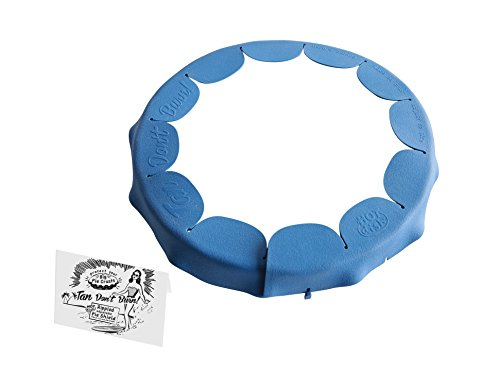Talisman Designs Adjustable Fluted Pie Crust Shield, BPA-free Silicone, Royal Blue, Fits 8.5