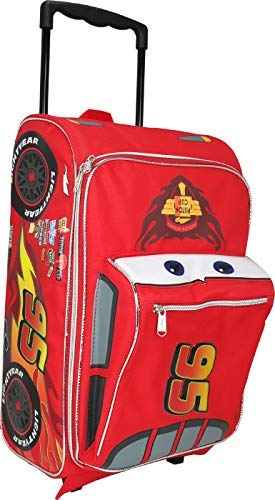 Pixar Cars 17 inches Lightning McQueen Shape Luggage