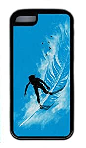 Soft TPU iphone 5C case with Abstract Painting My Wave Custom TPU Back Case for iphone 5C