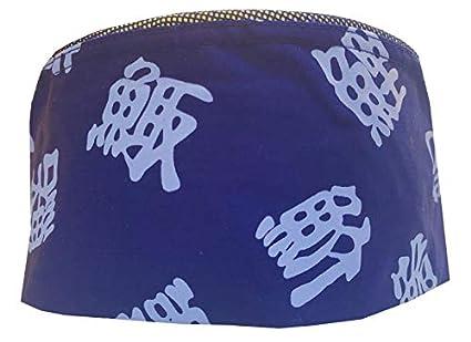 Amazon.com: Azul Chino letras malla parte superior Chef Hat ...