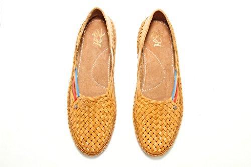 Mocassins Kolhapuri Brun Plat Hommes Chaussures Flop Style Belle Cuir Chappal Pantoufles De tPfwY