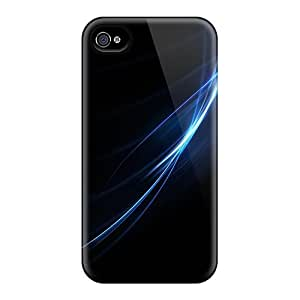Iphone 6 Hard Back With Bumper Cases Covers Blue Lines