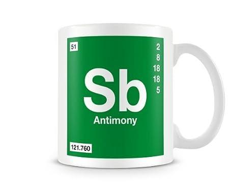 Periodic table of elements 51 sb antimony symbol mug amazon periodic table of elements 51 sb antimony symbol mug urtaz Choice Image