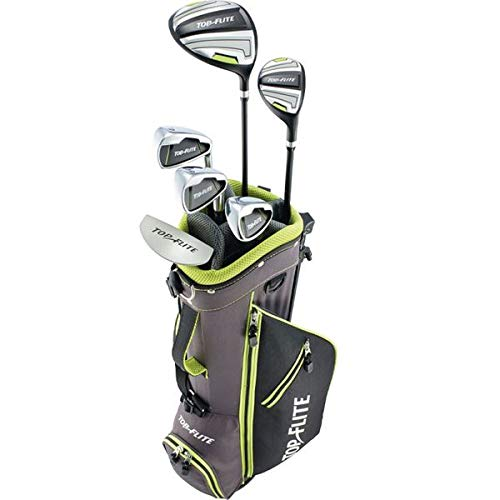 New 2019 Top-Flite Junior Boys Youth Golf Complete Set for Ages 9-12 Years Old - Height 53'' & Up - Golf 9 Piece