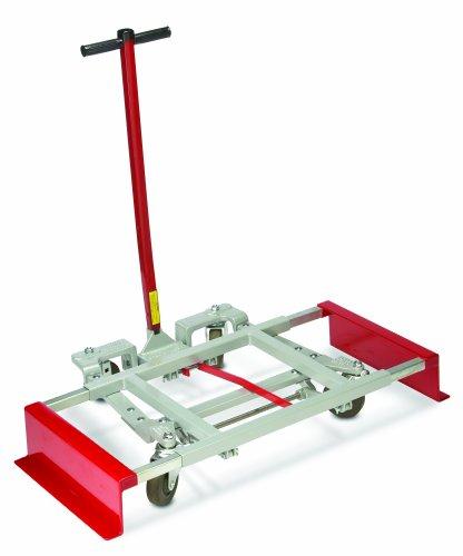 "Raymond Steel Adjustable Cube Style Desk Lift, Hard Rubber Wheels, 600 lbs Load Capacity, 6-1/4"" Height"