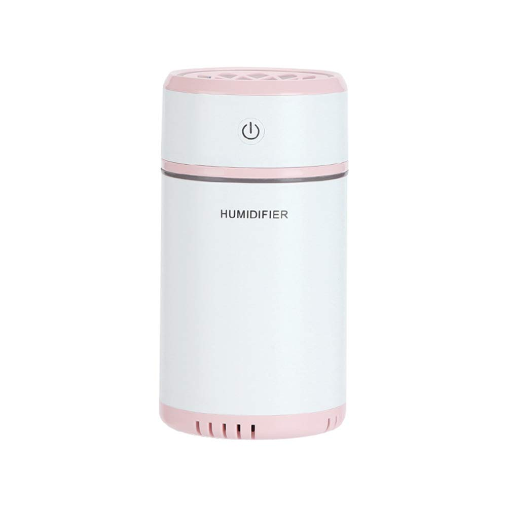 GLDMT for Family Baby Room Bedroom Office Mini Creative Humidifier Indoor Mute Humidifier Car Humidifier Pulling Humidifier,Pink