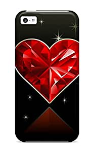Christmas Gifts KD2AMGM3YQMF41ND New Heart Tpu Case Cover, Anti-scratch Phone Case For Iphone 5c