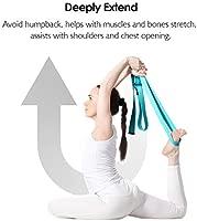 REEHUT Correa para Yoga (1.8m, 2.4m, 3m) - Cinturón con Hebilla Metal D-Anillos de Poliéster Algodón Resistente para Ejercicios de Estiramiento, ...