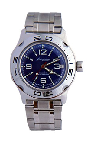 Vostok Amphibian Military Russian Navy Blue Diver Watch 2416 / 100316 (Watch Vostok Blue)