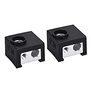 TongLingUSL MK10 Silicone Socks Fit MK10 Block Instead Ceramic Insulation Hotend Bowden Extruder Silicone Heater Block Cover Heated Block (Color : Free, Size : 2pcs Socks) 8