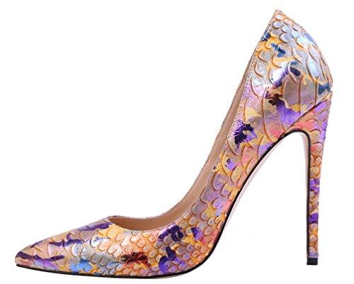 AOOAR Damen Animal-Print Stiletto Pumps Bunt