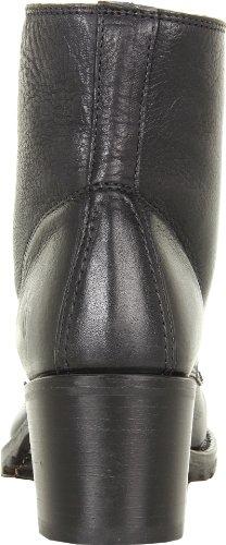 FRYE Womens Sabrina 6G Lace-Up Boot Black Dakota Leather-77201 fnKEs3M0