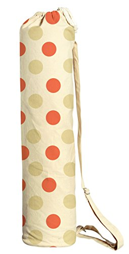 Poka Dot Pattern-4 Printed Canvas Yoga Mat Bags Carriers WAS_41