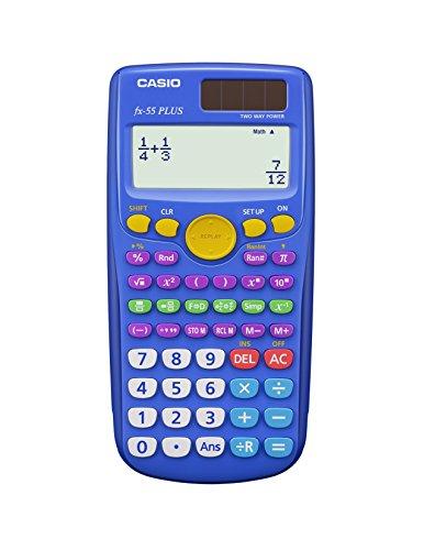 Casio fx-55 PLUS Elementary/Middle School Fraction Calculator, Pack of 10 (Teacher Pack) (Renewed) (Best Scientific Calculator For Windows)