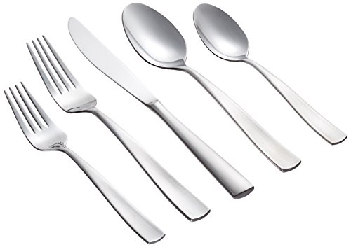 - Farberware Cayenne Satin 20-Piece Flatware Set, Service for 4