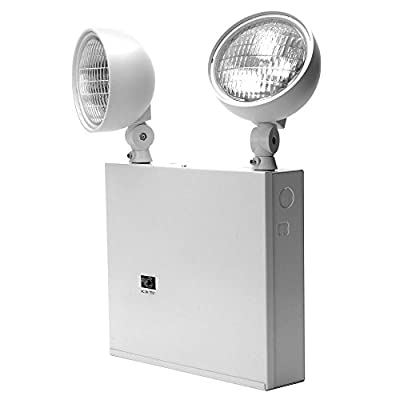 Lithonia Lighting ELT618NY M2 Incandescent Two Head Emergency Lighting Unit, White