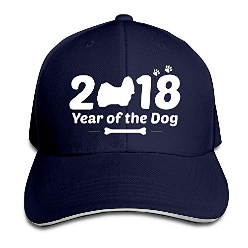 Youbah-01 Women's/Men's 2018 Chinese Calendar New Year The Dog-1 Adult Adjustable Snapback Hats Dad Hat