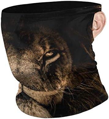 フェイスカバー Uvカット ネックガード 冷感 夏用 日焼け防止 飛沫防止 耳かけタイプ レディース メンズ African Lion Face