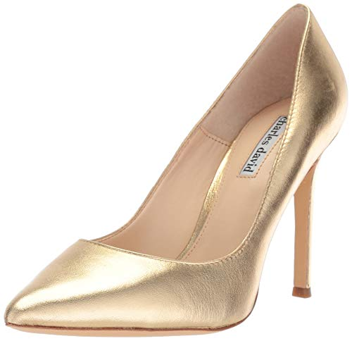 CHARLES DAVID Women's CALESSI Pump Rich Gold 9 M US