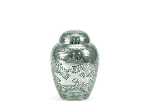 Near & Dear Pet Memorials Going Home Pet Cremation Urn, 45 Cubic Inch, Blue