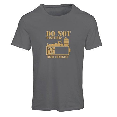 lepni.me Camiseta Mujer Cerveza Que Carga - Camisas del Alcohol, Ropa de la Barra, para la Fiesta (X-Large Grafito Oro)
