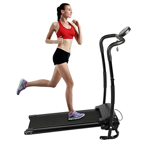 Water-chestnut 350W Folding Portable Motorized Exercise Treadmills (250LBS Bearing Weight, Black)