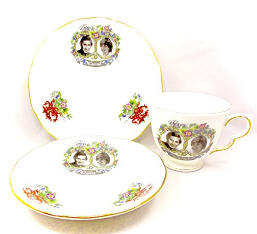 Marriage of Prince Charles & Lady Diana Tea set,3 piece,Bone China,England,Queen Anne,Numbered,July 29,1981