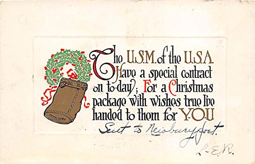 Christmas Holiday Postcard Vintage Xmas Post Card The Pink Perfection Publication 1913