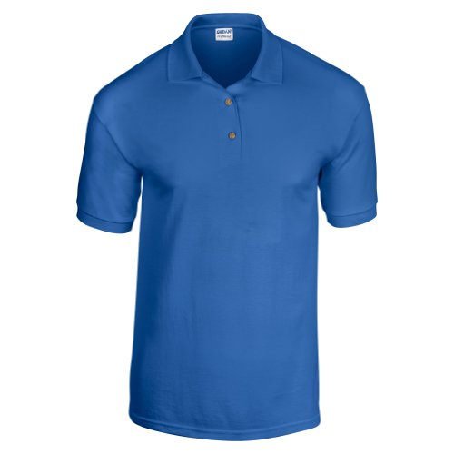 Gildan Adult DryBlend Jersey Short Sleeve Polo Shirt (XL) (Royal)