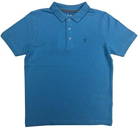 Farah Niños Polo Celeste Camiseta Edad 7 Años hasta 15 Años - Azul ...