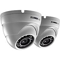HD 1080p weatherproof IR dome security cameras 2 pack
