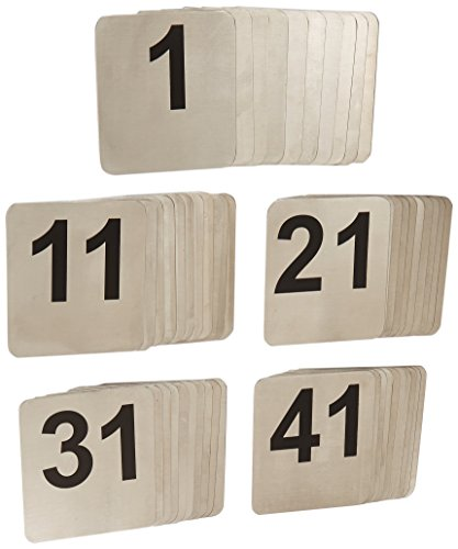 TableCraft Products N150 1-50 Stainless Steel Number Signs by Tablecraft
