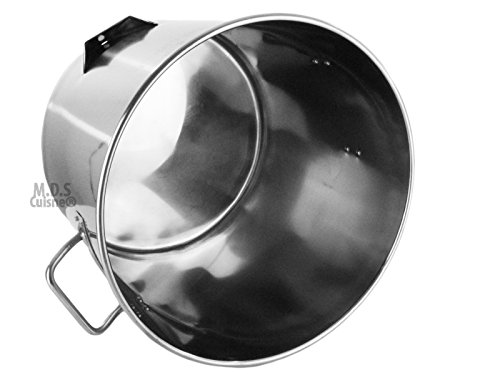 Stock Pot Stainless Steel 52''QT Lid Steamer Brew Vaporera Divider Tamales New by M.D.S Cuisine Cookwares (Image #5)